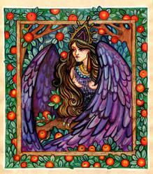 The Prophetic Bird Sirin by aleksandvagne