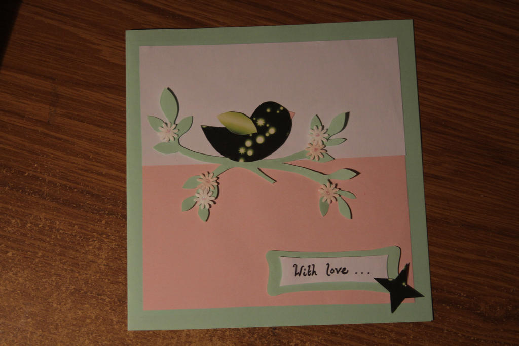 Bird Greeting Card by thanxforthefish