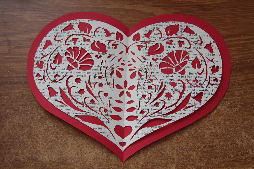 Valentine Papercut by thanxforthefish
