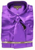 MensNew Purple Green Dress Shirt by mensusasuits