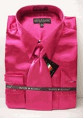 MensNew Fuchsia Satin Dress Shirt by mensusasuits