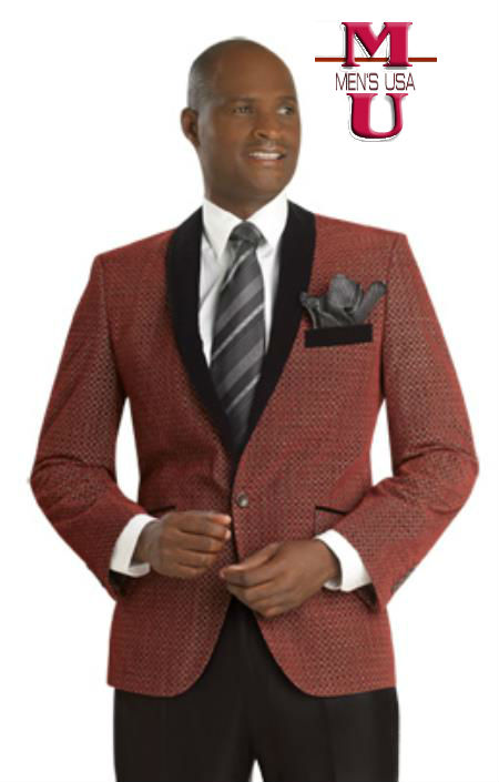 Mens Exclusive one Button Suit Red by mensusasuits