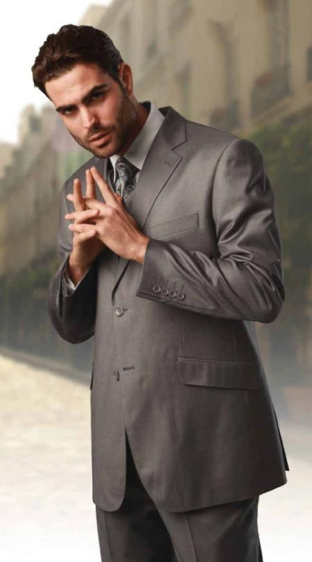 Men's 2 button Peak Lapel Brown Color three piece by mensusasuits
