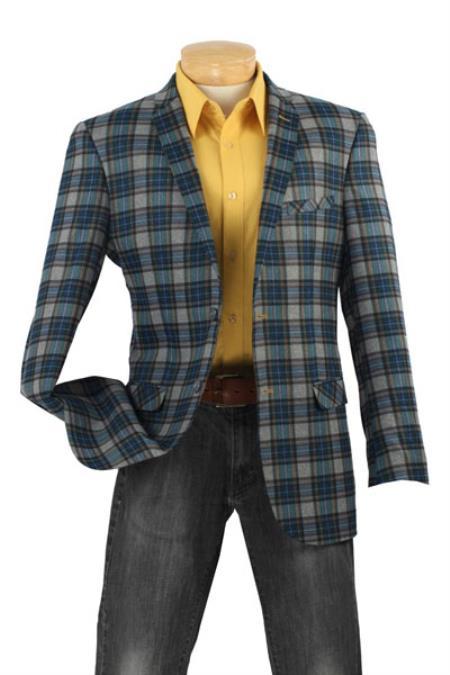 Mens High Tech Fabric Slim Mens Sport Coat by mensusasuits