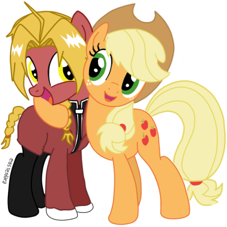 Crossover: Edward Elric and Applejack. by easterdara