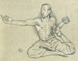 sophicyogastudent yoga pose pencils LG by jetdog-art