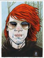roastbeezy red hair acrylics by jetdog-art