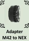 Adapter M42 to NEX by PhotoDragonBird