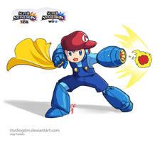 Mega Mario ART by studiogdm