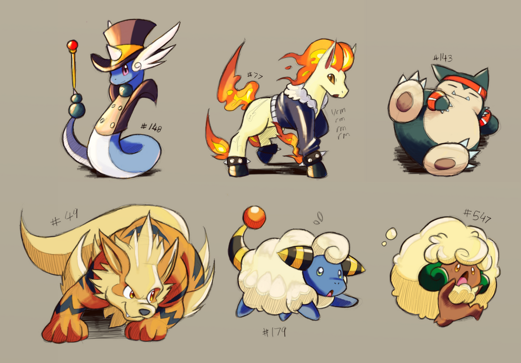 Pokemons by ohgoshdarnthesecond