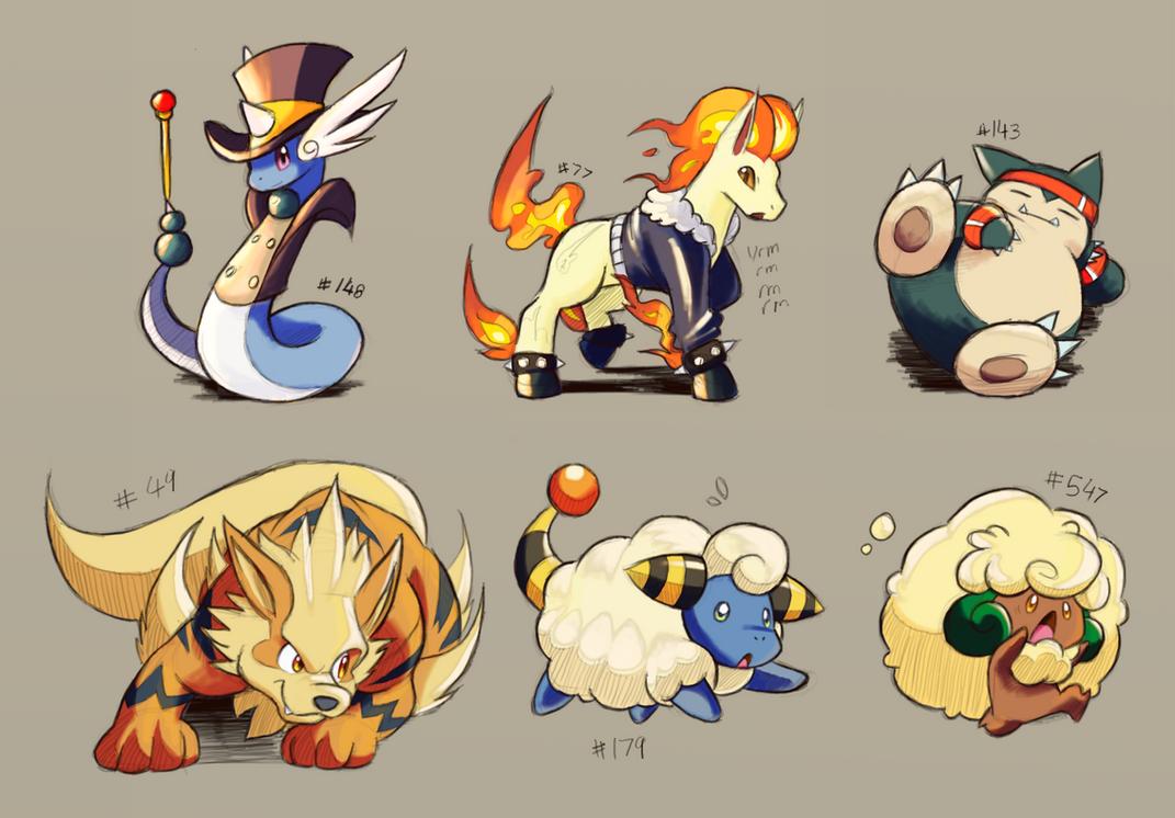 Pokemons by ohgoshdarnthesecond