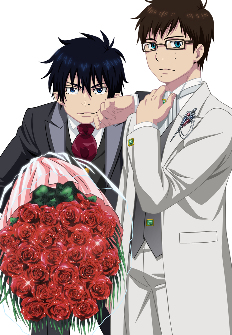Rin and Yukio elegance by Narusailor