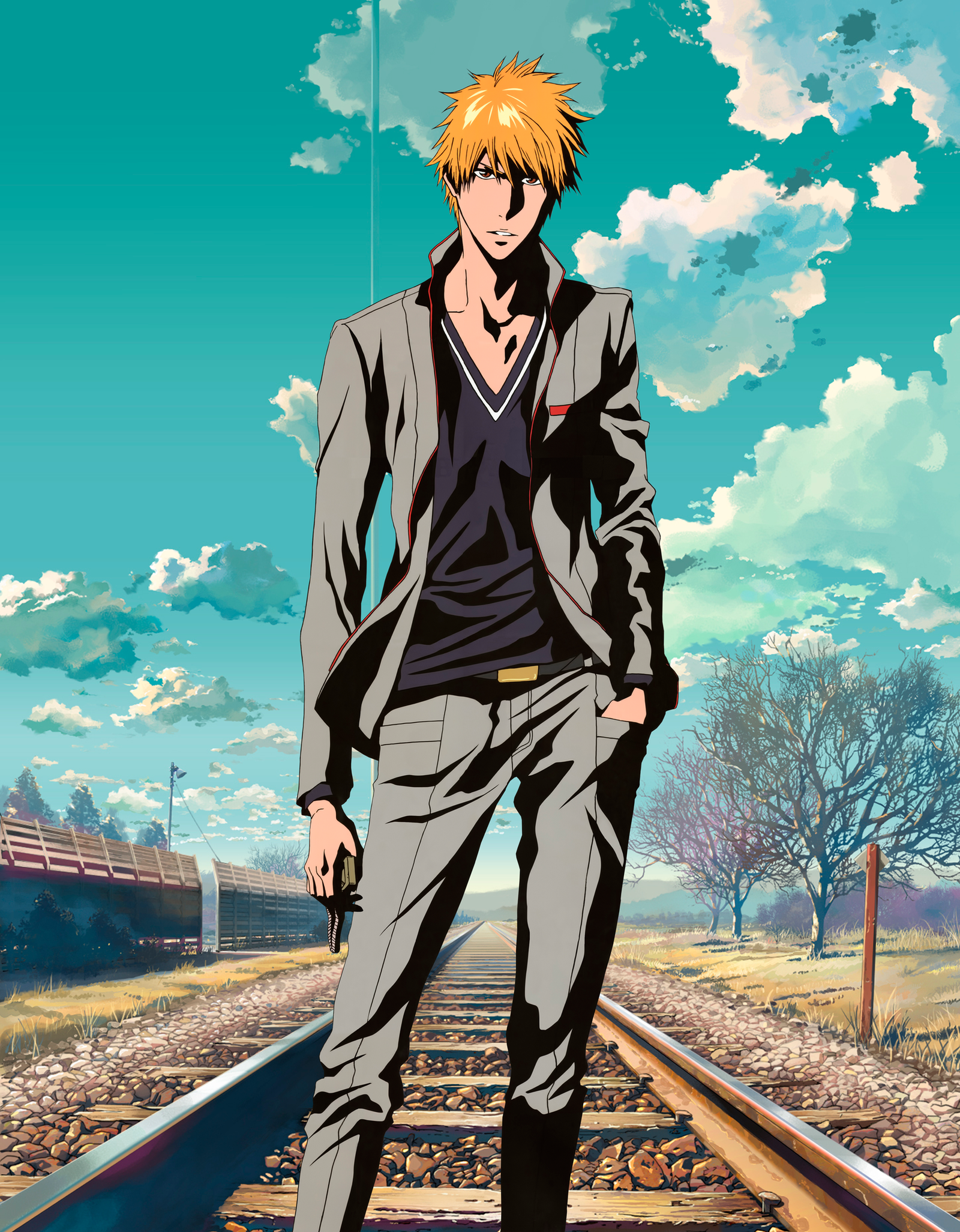 Ichigo Kurosaki 2 years after by Narusailor