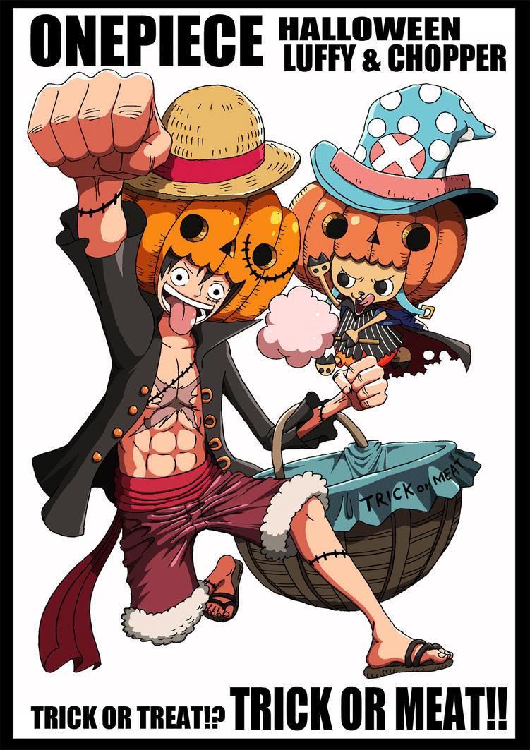 Mugiwaras Halloween Gif. by Narusailor