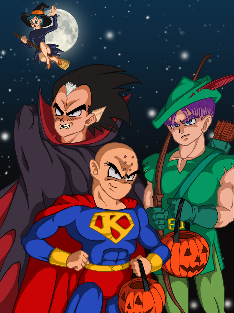 dbz halloween by narusailor