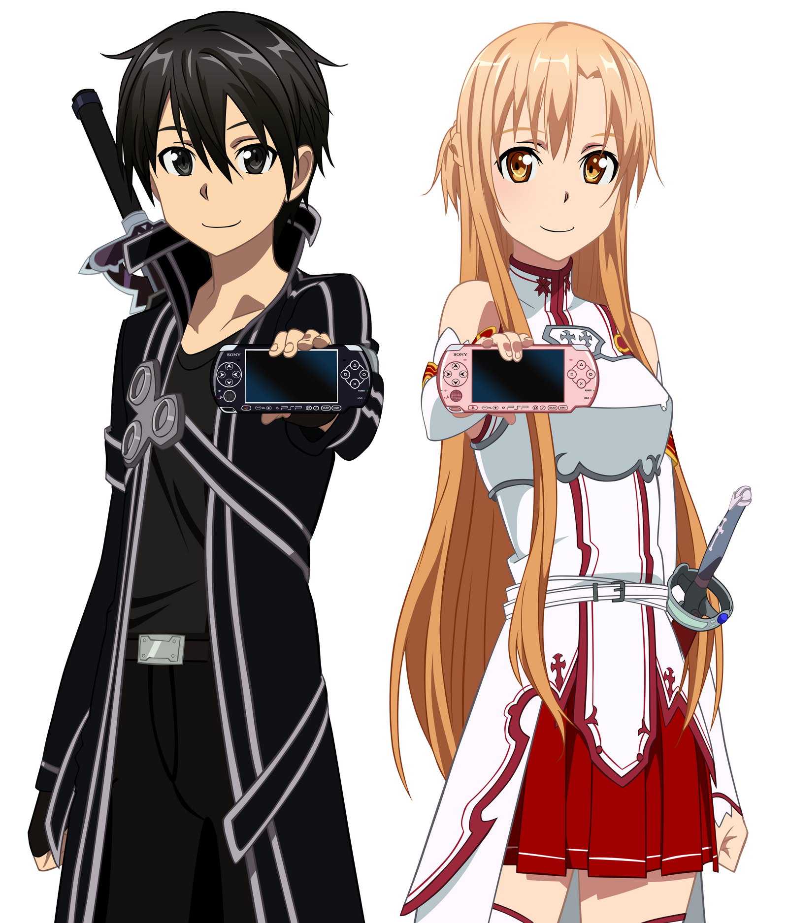 Renders anime Kirito_and_asuna_play_station__by_narusailor-d6w0929