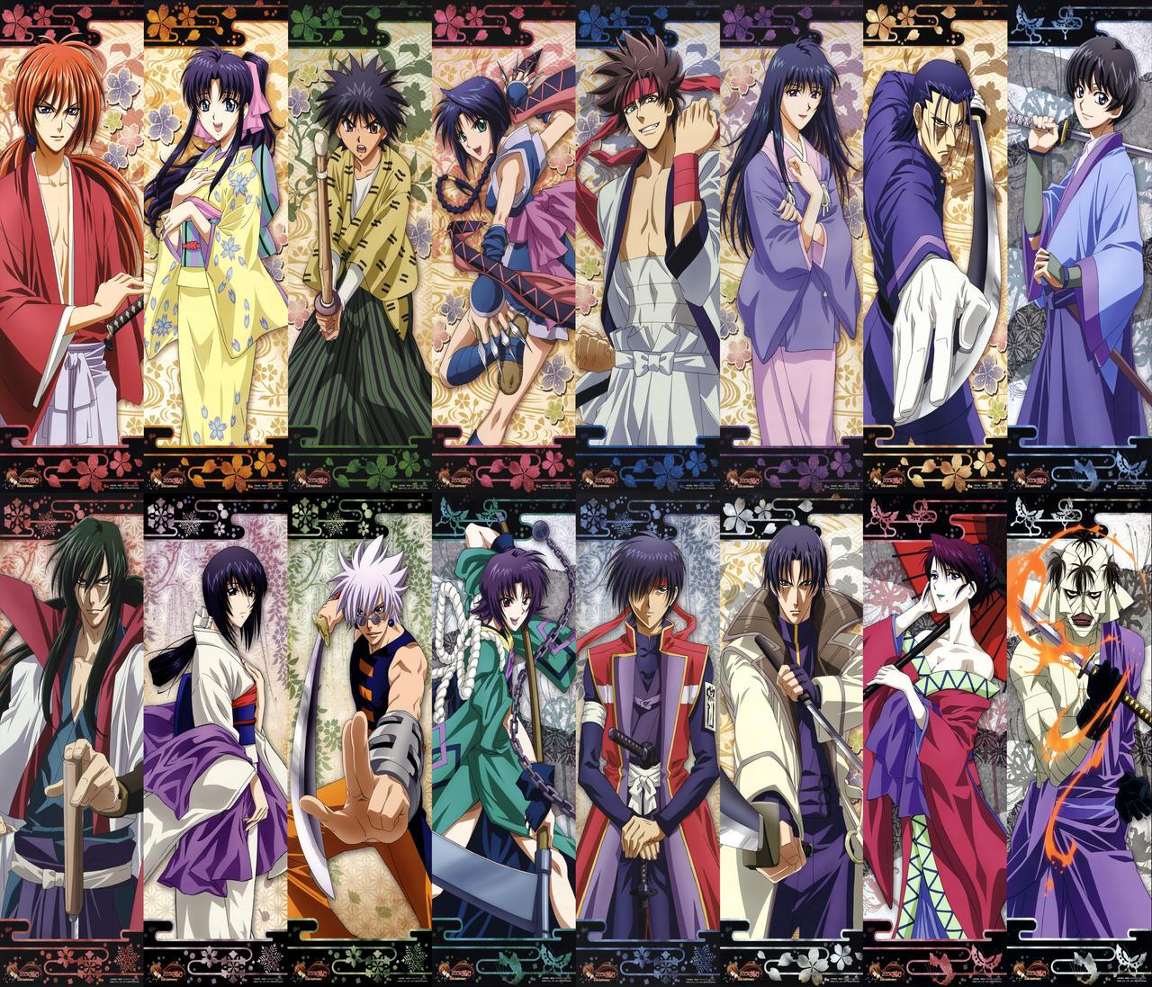 Rurouni Kenshin Characters by Narusailor