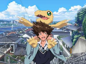 Taichi Yagami and Agumon