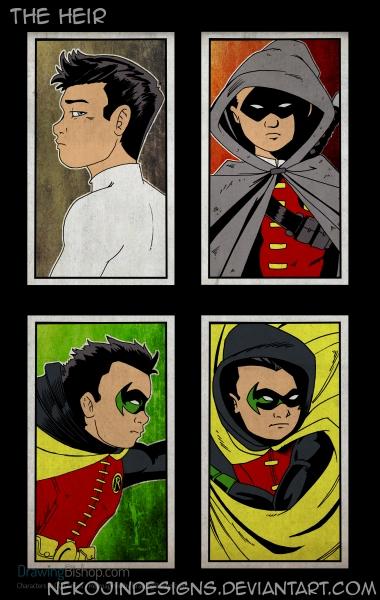 The Heir - Damian Wayne by nekojindesigns