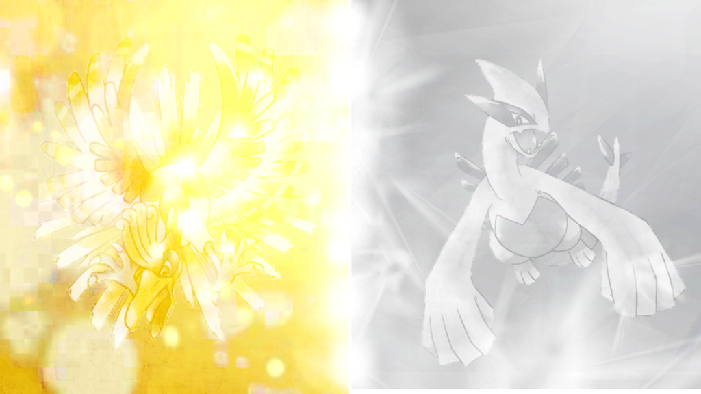 Pokemon Gold And Silver Version Ho Oh Vs Lugia By Counterfx On Deviantart