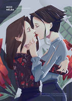 Yuri Anime Illustration by NicoMelba
