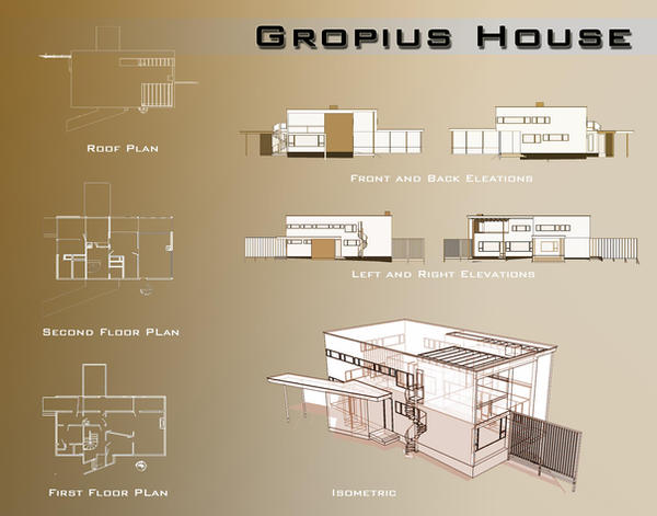 Gropius house presentation by techgreen on deviantart for Floor plans presentation