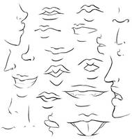 mouths + noses study I by bubblesfish