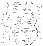 mouths + noses study I