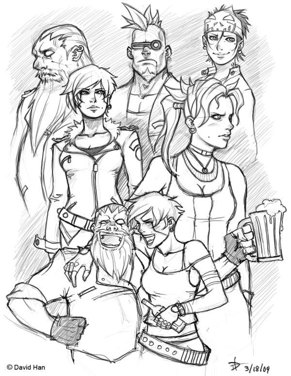 Group sketch by Makotsu