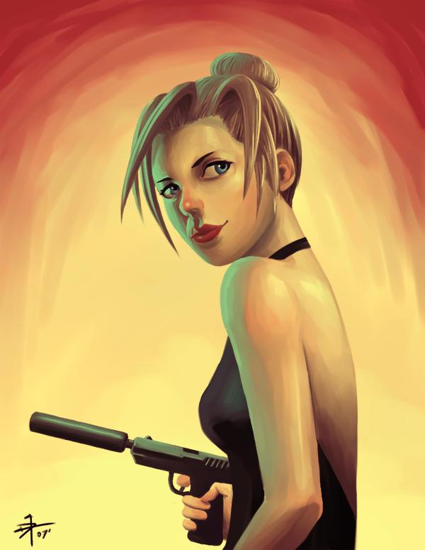 Female spy by Makotsu