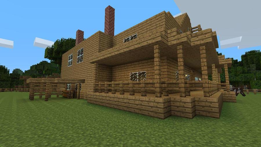 Minecraft The Walking Dead Herchels House Side By HaileyR On - Skins para minecraft the walking dead