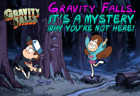 Gravity Falls Post Card I made XD by DreamSkittles3000