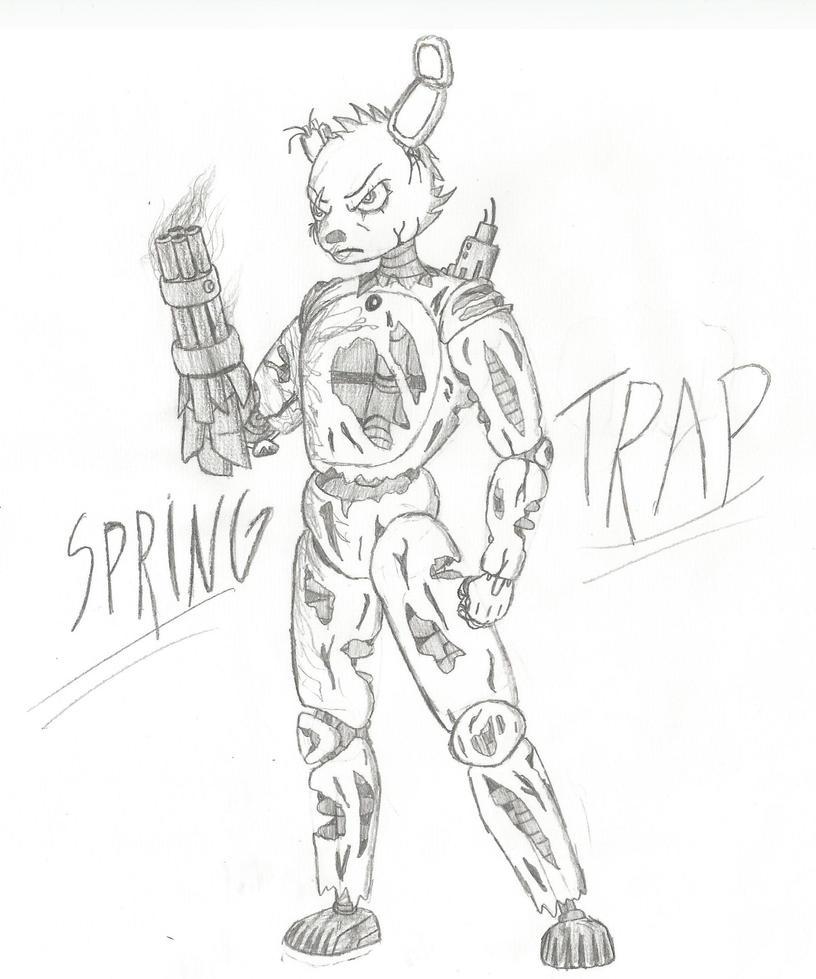 Springtrap my design by RodBMReis on DeviantArt