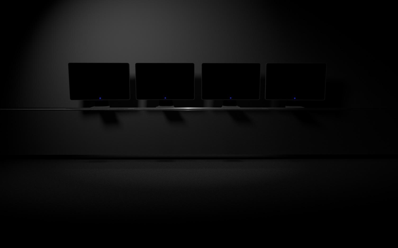 The Blue Desktop - Rainmeter Wallpaper by AndyLight