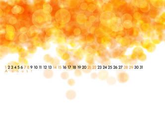 Orange blurs