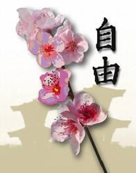 cherry flower by Peorthyr