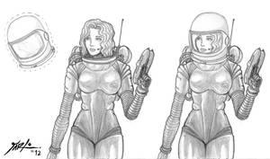 Retro Spacewoman by jarloworks