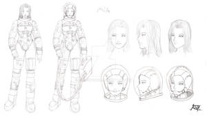 Commish- Mia Sketchy character