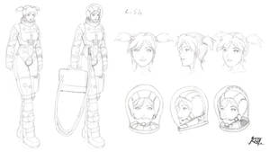 Commish- Lisa Sketchy character by jarloworks