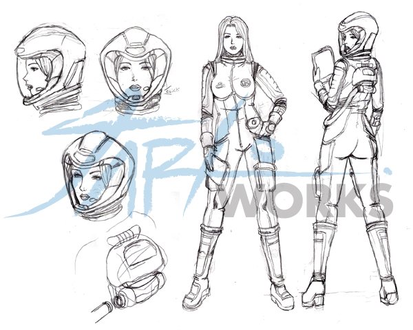 Sketchy Character Sheet Sample by firestoned