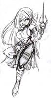 Elektra Pencil by Poorone