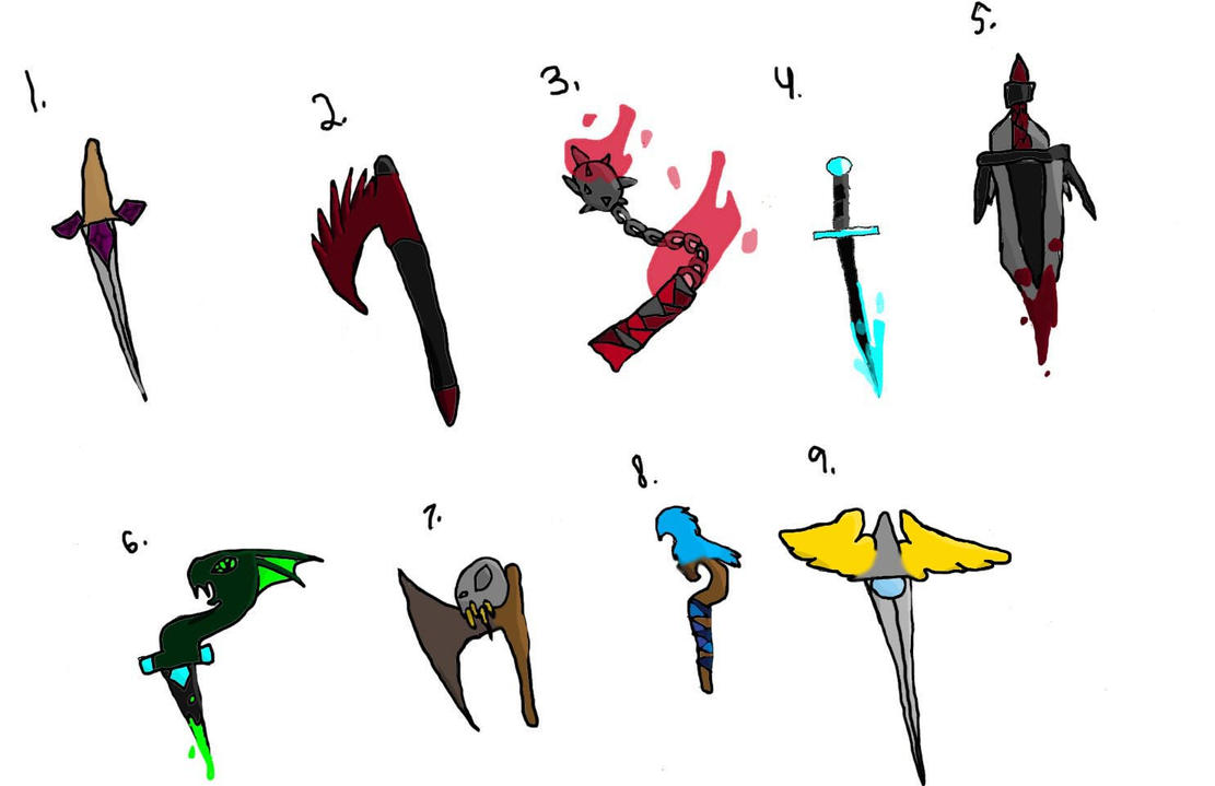 Medieval Weapon Adopts CLOSED by ShadowhawkArt on DeviantArt