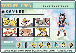 My Pokemon Black/White Trainer Card