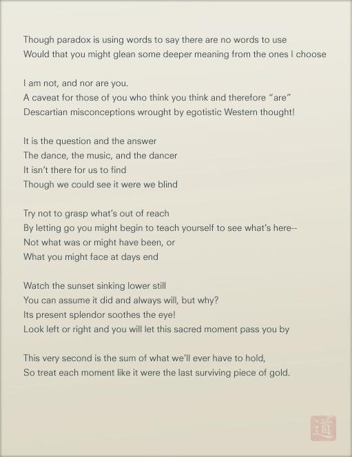 Untitled Taoist Poem by andythefragile