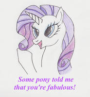 What some pony told Rarity
