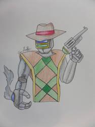 Robot Cowboy - colored