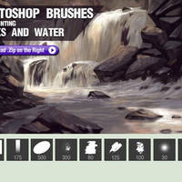 Photoshop Brushes For Painting Rocks And Water by c278234