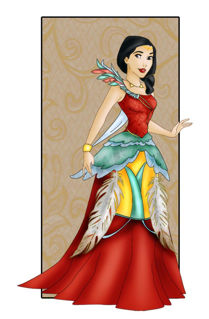 Pocahontas New Dress By Sonala On Deviantart
