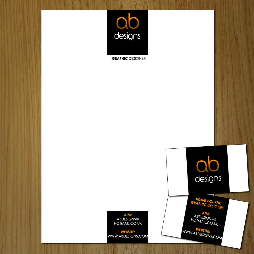 Letterhead and Business Card by AB-Designs on DeviantArt