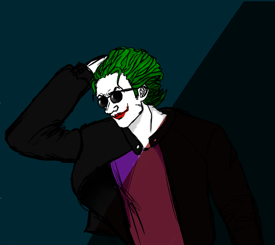 Joker with sunglasses by prussiaGilbo